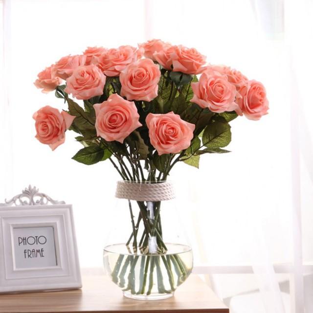 Rose flowers wedding bouquet bridal decoration bundles real touch rose flowers wedding bouquet bridal decoration bundles real touch flower bouquets junglespirit Images
