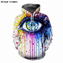 PLstar Cosmos Men Women Harajuku Sweatshirt Colorful Print Eye 3D Hoodies Female Hooded Sweatshirts Outerwear Streetwear Hoodie