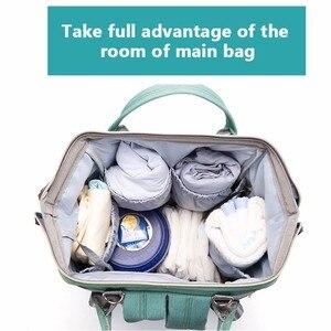 Image 2 - USB Baby Diaper Bags Large Nappy Baby Bag Upgrade Fashion Waterproof Mummy Bag Maternity Travel Backpack Nursing Handbag for Mom