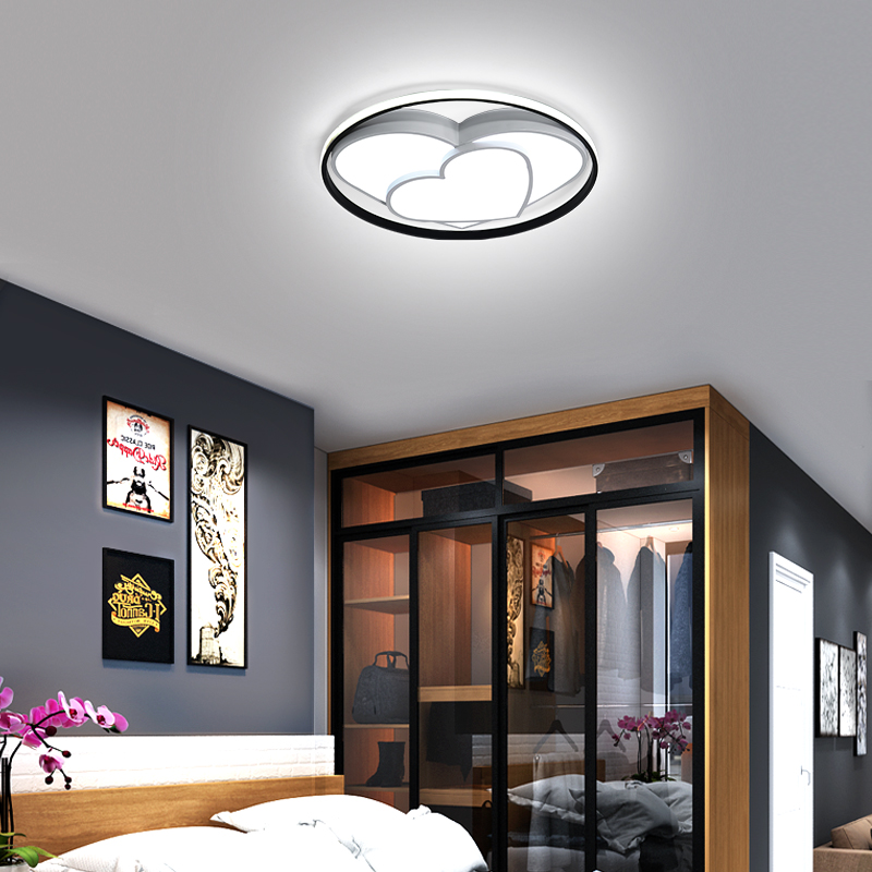 YANGHANG New Creative Modern led Ceiling Lights For Bedroom Room Wedding Room Study Room White Black Ceiling Lamp Fixtures in Ceiling Lights from Lights Lighting