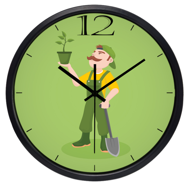 Indoor Outdoor Gardener Cartoon gardener indoor outdoor wall clock creative decorative clock cartoon gardener indoor outdoor wall clock creative decorative clock workwithnaturefo