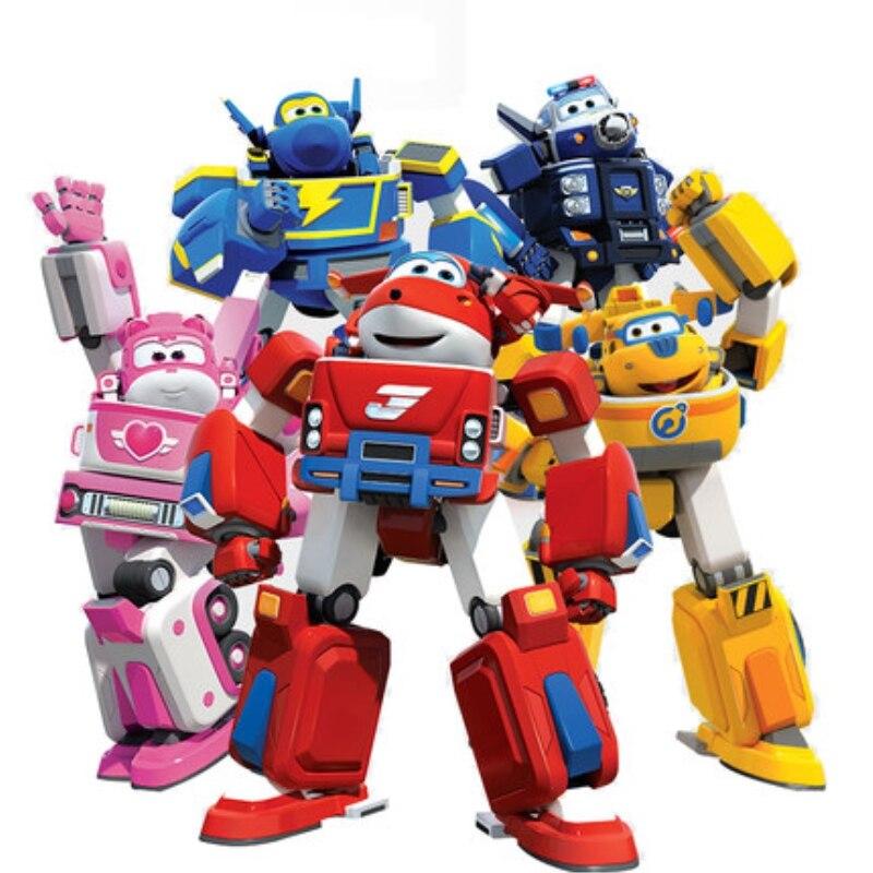 Mais novo grande armadura de deformação super asas resgate robô figuras ação super asa transformação motores de incêndio brinquedos para crianças