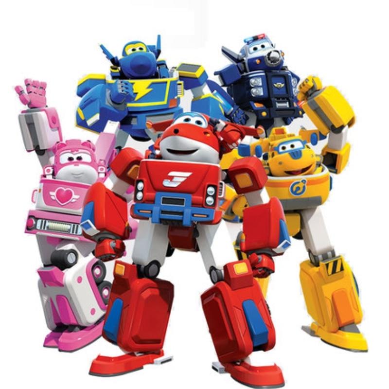 Новейший большой деформационный армированный суперкрылья, спасательный робот, фигурки, Супер крыло, трансформация, пожарные игрушечные дв...