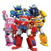 Nuevo gran deformación armadura Super alas rescate Robot figuras de acción Super ala transformación fuego motores juguetes para los niños