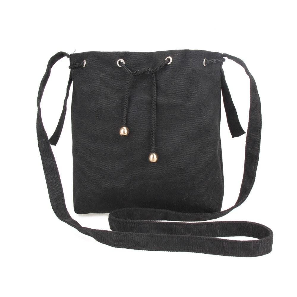 mulheres homensageiro bolsa crossbody bolsos Modelo Número : Canvas Drawstring Bucket Bag