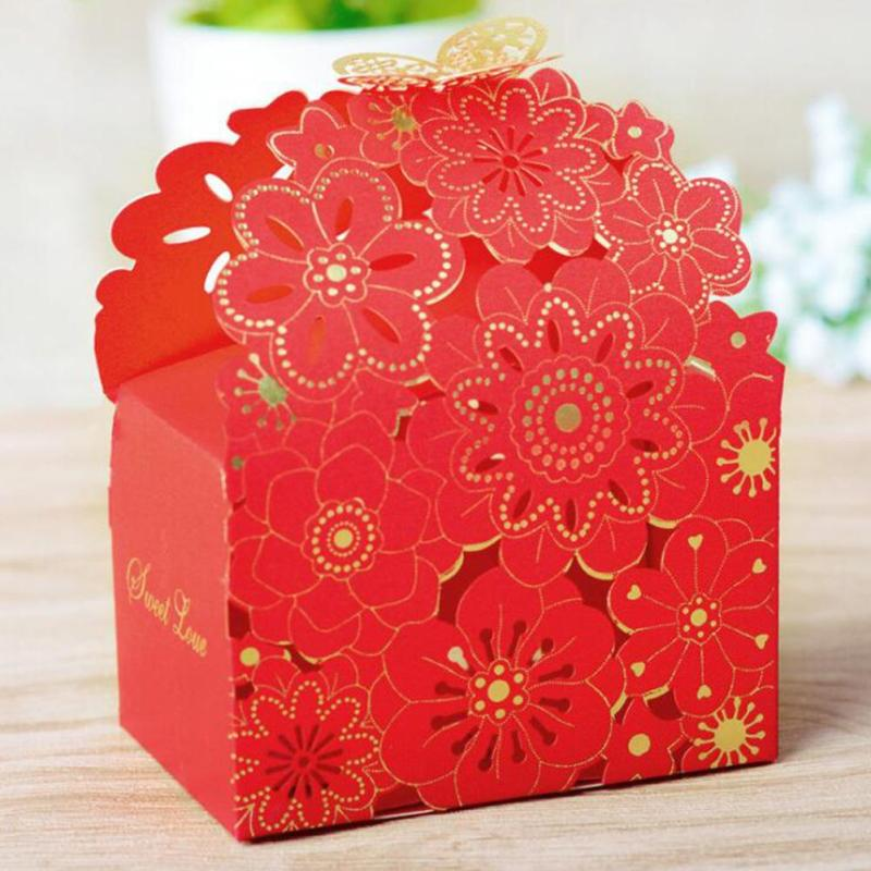 Candy Box Wedding Hollow Flower butterfly Party Wedding Carriage Baby Shower Favors Gifts Candy Boxes 20
