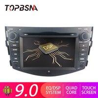 TOPBSNA Android 9,0 автомобильный dvd плеер для Toyota rav 4 RAV4 зеркало с Навигатором GPS link Wi Fi микрофон автомобильное радио USB RDS бесплатная карта
