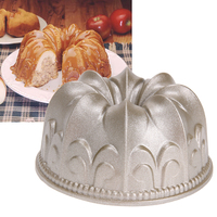 4inch Cake Mold Gold Mini Lily Non Stick Hollow Cake Baking Mold Bundt Pan Cast Aluminum