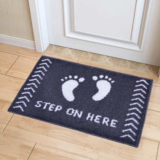 mdct 45x65cm step on here hello printed floor mats soft plush hallyway bathroom living room door - Floor Mats For Living Room