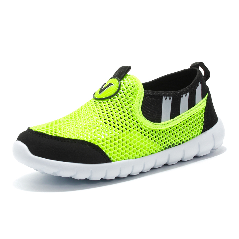 Fashion Spring 2018 Designer Boys Shoes Casual Mesh Slip on Tennis Toddler Children Sneakers Green Trainers Kids Shoes for Girl