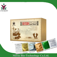 2 Boxes 12 Pairs Adhesives Detox Foot Patch Bamboo Vinegar Pads Improve Sleep Beauty Slimming Patch