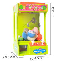 USB Charging Claw Machine Candy Grabber Doll Arcade Game Catcher Toy Clip Claw Crane Vending Arcade Machine UFO Catcher