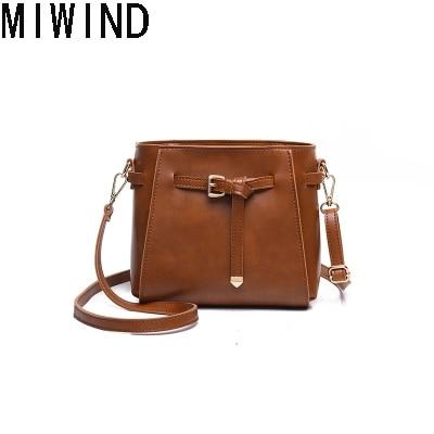 MIWIND 2017 New Fashion Women Leather Handbags Small Shoulder Bags for Teenage Girls Messenger Bags Mini Crossbody bag TXL1156