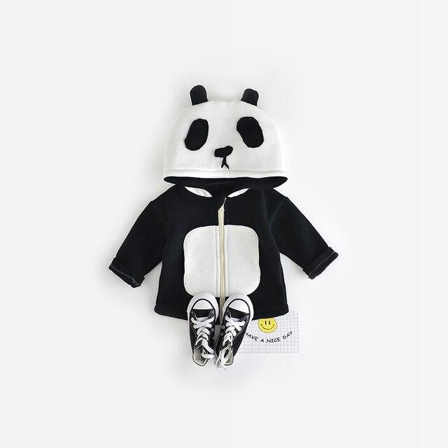 Baby Kids Cute Panda Coat 2016 Autumn Winter Unisex Girls Boys Panda Animal Pattern Coat Support