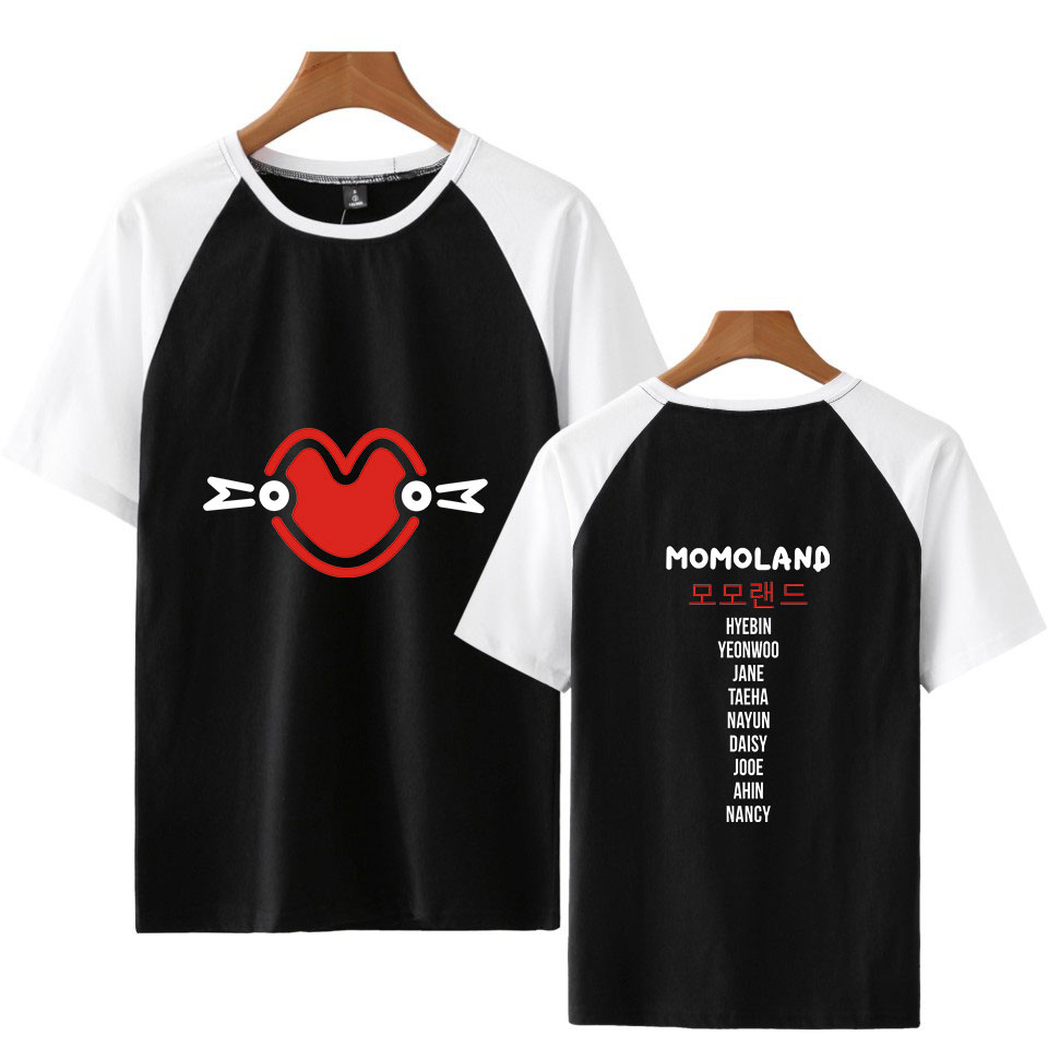 2019 Ralgan MOMOLAND Print Harajuku Women And Men Clothes 2018 Hot Sale Casual Short Sleeve T-shirts Casual Kpops Plus Size 4XL