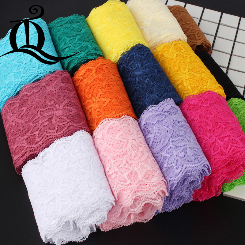 5yard 8cm Garment Accessories Exquisite Color Lace Quality Fabric Lace With Elastic Lace Elastic Wide 8cm Elastic Lace,ribbon