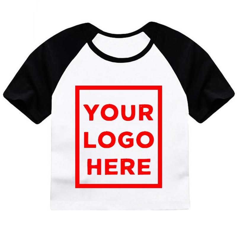 ZSIIBO Baby boy T shirt Girls Customizd LOGO clothes DIY ...