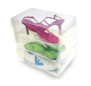 clear plastic shoe box storage containers box womens in storage boxes bins from home garden. Black Bedroom Furniture Sets. Home Design Ideas