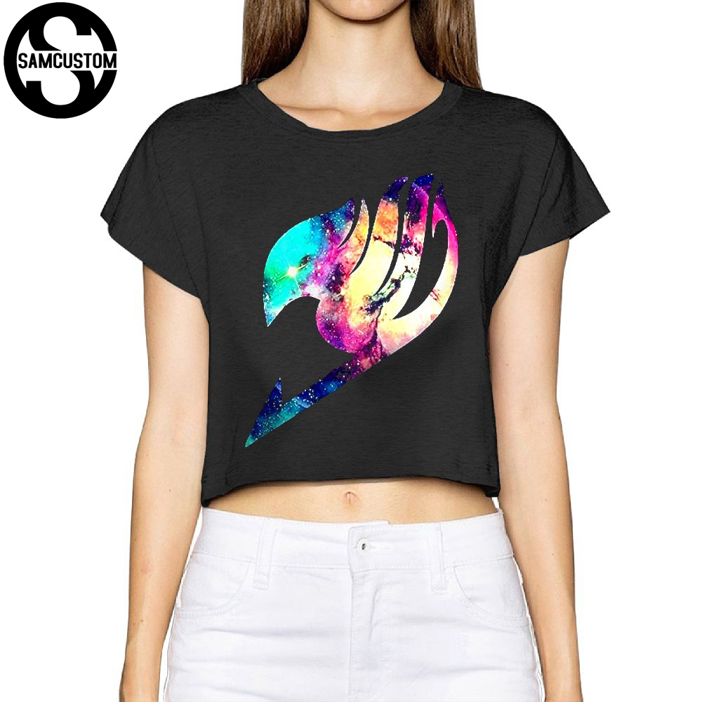 SAMCUSTOM Camisetas Real Short New Fairy Tail <font><b>3D</b></font> printing Summer Fashion Street <font><b>T</b></font> <font><b>Shirt</b></font> Anarchy Bare midriff <font><b>Sexy</b></font> <font><b>T</b></font>-<font><b>shirt</b></font> Women image