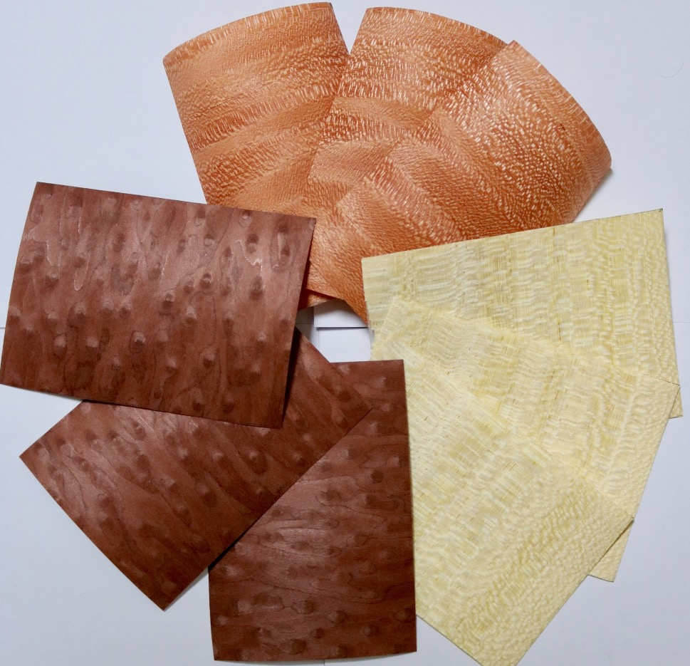 9Pieces/Lot (three Items Veneer)  9.5x13.5cm Solid Wood Veneer