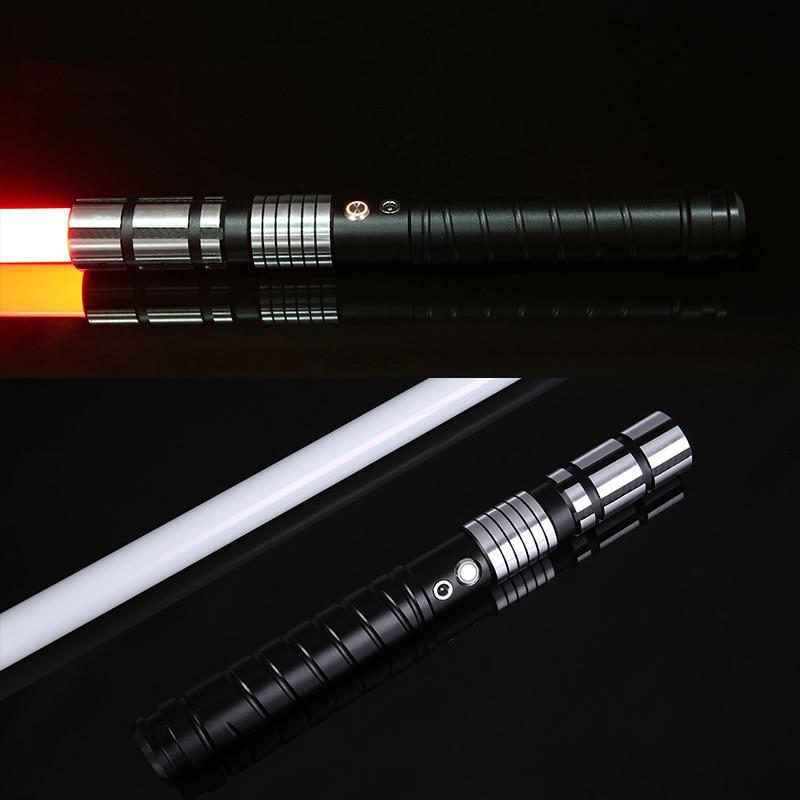 LGTOY Jedi LED Light Saber Force FX Heavy Dueling Rechargeable Lightsaber Loud Sound High Light with FOC MetalHilt Christmas