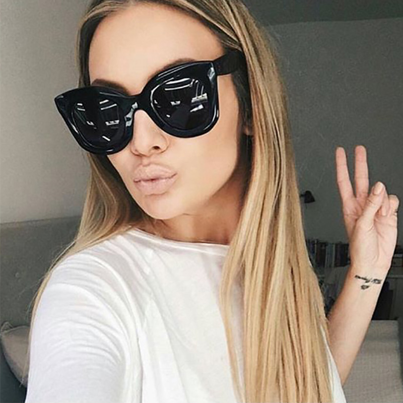 AFOFOO Fashion Cat Eye Sunglasses Luxury Brand Designer Vintage Rivet Women Mirror Sun glasses UV400 Shades