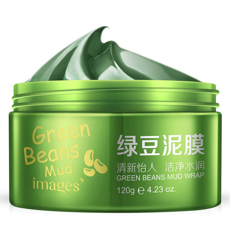 Images Skin Care Mung Bean Mud Facial Mask Blackhead Remove Whitening Moisturizing Shrink Pore Acne Treatment Face Mask купить в Москве 2019