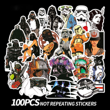 100 Pcs Star Wars Stickers For Car Laptop Skateboard Bicycle Luggage Pvc Waterproof Decal Sticker B