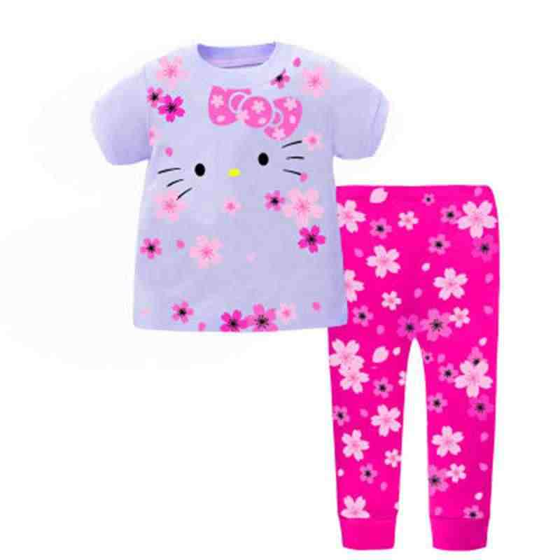 5cf9141773 New Baby Boys Pajamas Suit Girls Sleepwear Sleep Suits Kids T-shirts Pants Children  pyjama