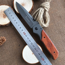 Blade Survival Knife Folding Knife Wood Handle Pocket Hunting Tactical Knives Camping Outdoor EDC Tools