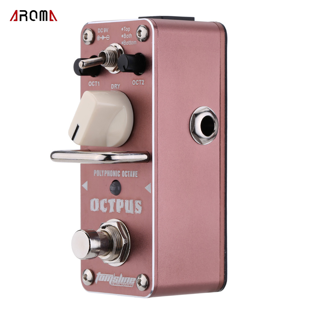 AROMA AOS 3 Octpus Guitar Effect Pedal Polyphonic Octave Electric Guitar Pedal Mini Single Effect with