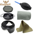 KnightX 49 52 55 58 62 67 72 77 dish cloth pump lente computer wipes lens cap lens hood Blower For nikon canon go pro 52MM 58MM