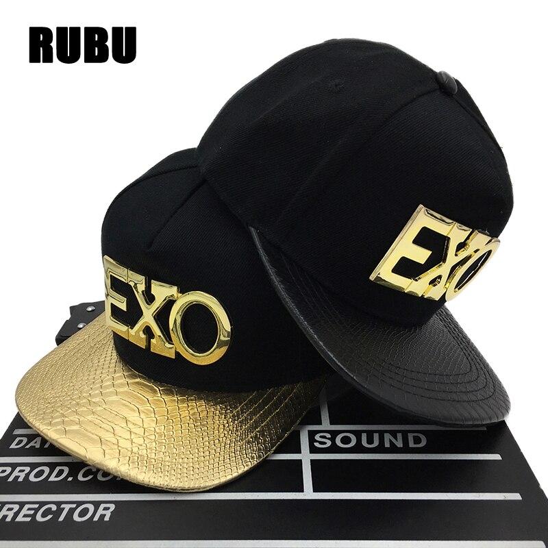d6bce79b607 ... cap hat 4b6cc 46c0c  new arrivals fashion metal logo exo hats for men k  pop exo hip hop snapback women
