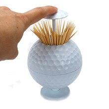 Golf Ballไม้จิ้มฟันกดกล่องไม้จิ้มฟันอัตโนมัติบุคลิกภาพแบบพกพาไม้จิ้มฟันBucketจัดส่งฟรี