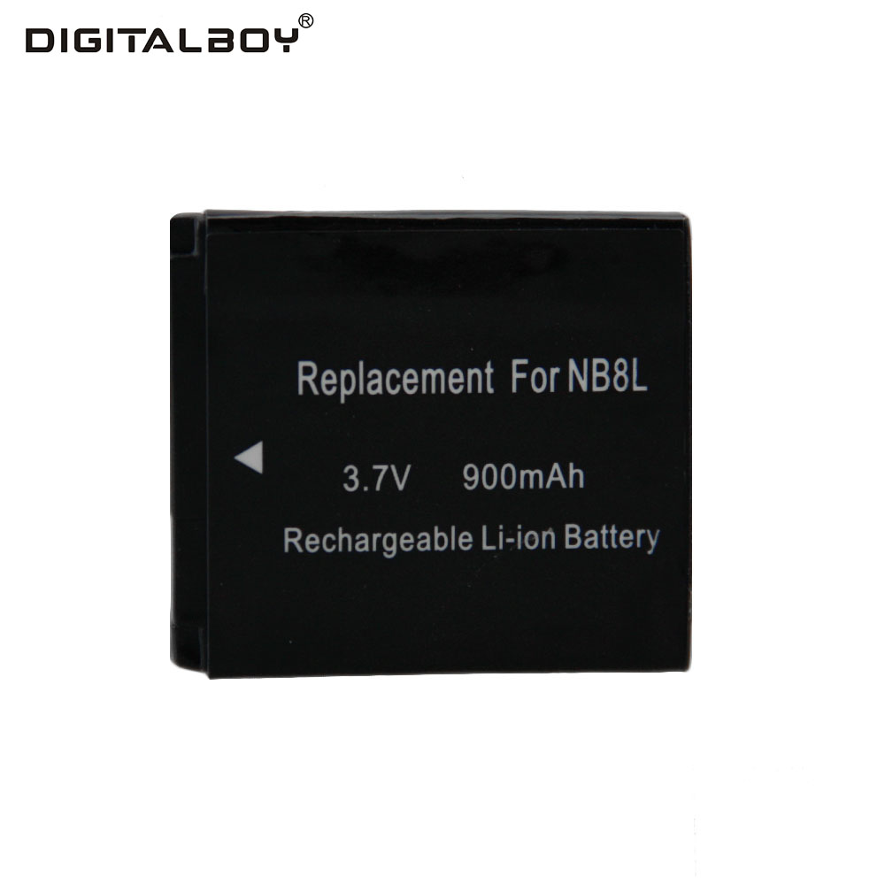 Digitalboy 3.7V 900mAh 1pcs NB-8L NB 8L NB8L Rechargeable Camera Battery For Canon Powershot A3100 A3200 A3300 PM059 A2200 A3000