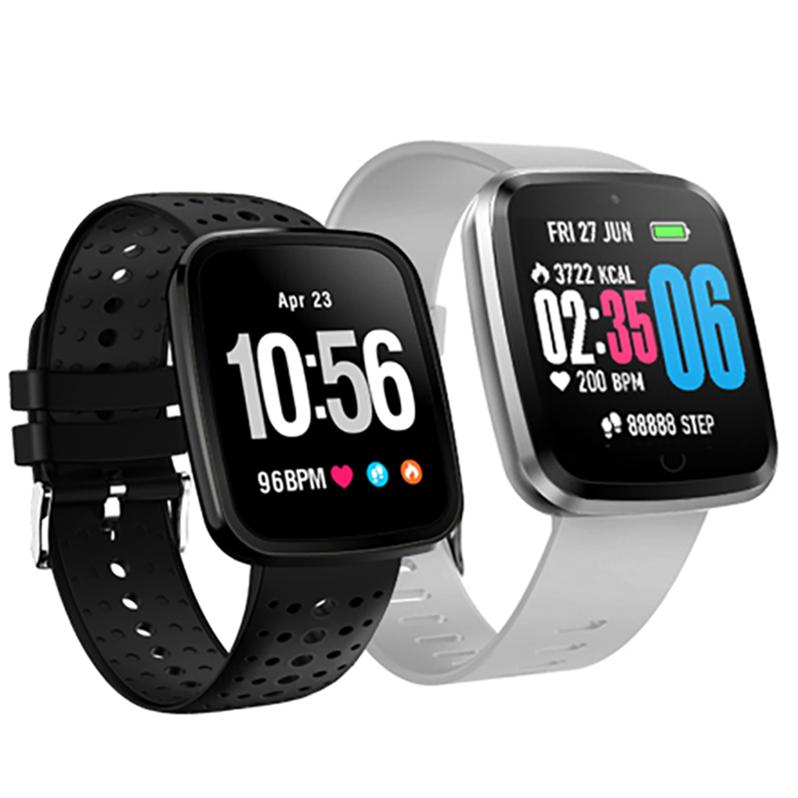 696 V6 Smart Uhr <font><b>IP68</b></font> Wasserdichte Bluetooth <font><b>SmartWatch</b></font> Herz Rate Monitor Fernbedienung Kamera Smart armband Für iPhone Android-Handy image
