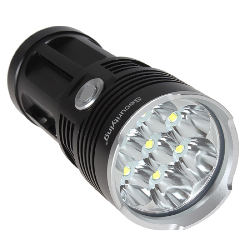 SecurityIng Waterproof LED Flashlight Handle Super Bright Light 4200LM 7x XM L T6 LED Water Resistant Flashlamp with 3 Modes in LED Flashlights from Lights Lighting