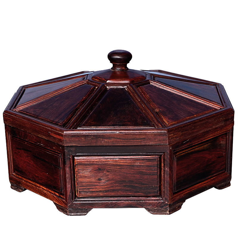 Shengwei process Laos rosewood mahogany antique compote of dried fruit multi compartment box for collection of