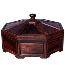 Shengwei process Laos rosewood mahogany antique compote of dried fruit multi-compartment box for collection of high-end crafts
