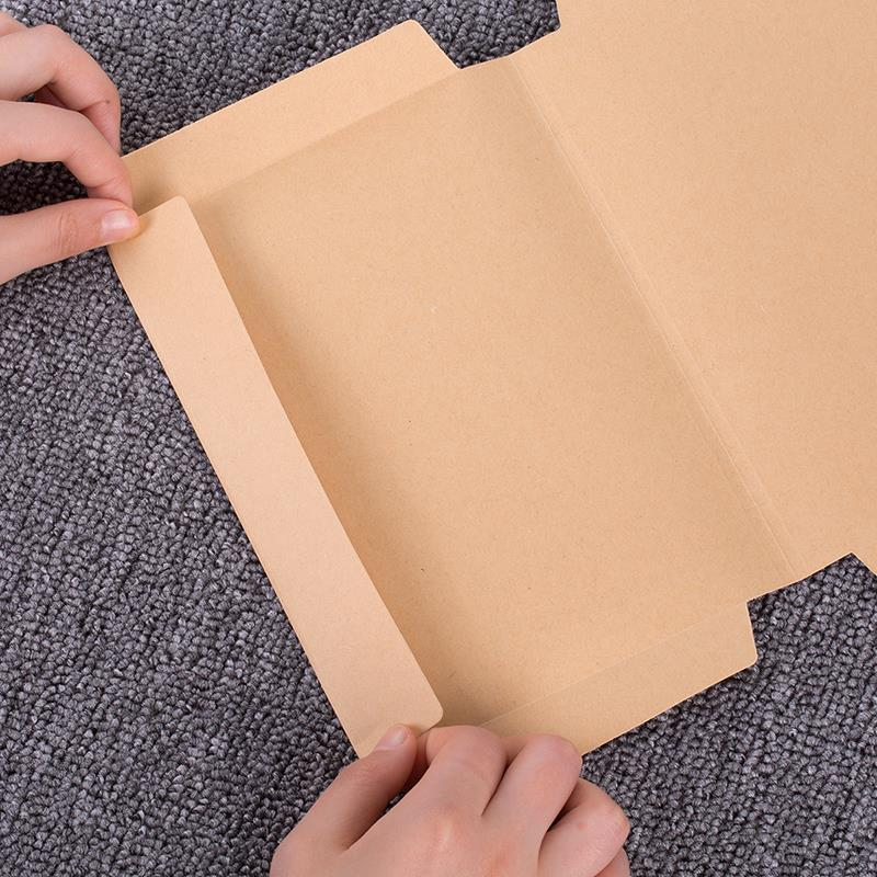 10Sheets Kraft Paper Book Cover 32K/16K/A4 Protective Thicken Book Coat Students Gradebook Film Office Home 70550