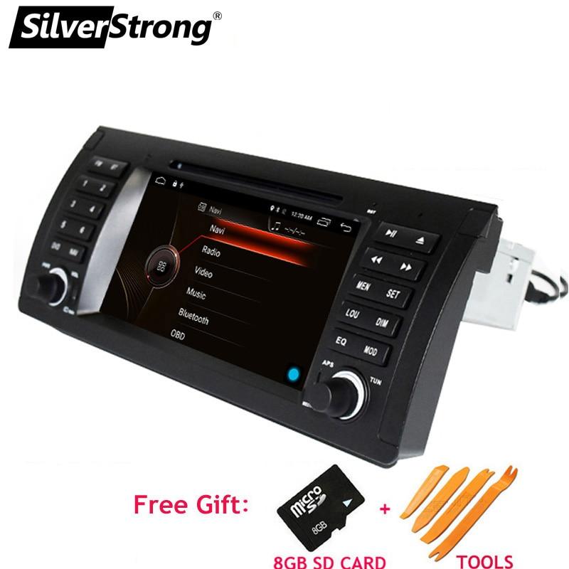 SilverStrong 1 Din Voiture Lecteur DVD Pour BMW E53 X5 E39 DVD De Voiture pour BMW Radio Navigation pour E53 e39 x5 pour BMW 7 pouces Bluetooth RDS