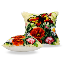 Latch Hook Rug Kits Pillowcase Goblen Kitleri Canvas Kussen Knooppakket Kleed La Casa De Papel Serie Embroidery Cushion Cover