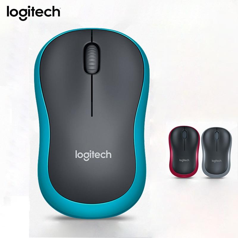 Original Logitech M185 Wireless Mouse 1000DPI Office Computer USB Nano Receiver Receiver