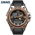 SMAEL роскошные мужские наручные часы золотые цифровые часы мужские водонепроницаемые 50 м светодиодный часы мужские 1603 цифровые часы мужские...