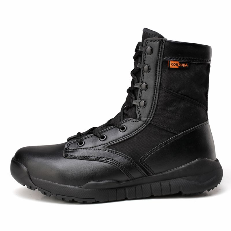 где купить Mens Army Military Boots Outdoor light Motorcycle Boots Men Ankle Boots Casual Martin Shoes Botas Hombre Work Coturnos Masculino по лучшей цене