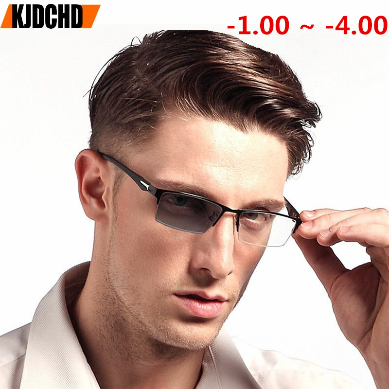 2018 Finished Myopia Eyewear Sun Photochromic Eyeglasses Lens Optical Glasses Frame Men Computer Eyeglasses Frame Men Women