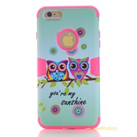 Lovely Pattern Silicon Hybrid Case For Apple Iphone 6 Plus Durable Shockproof Protective Shell Cover Hard