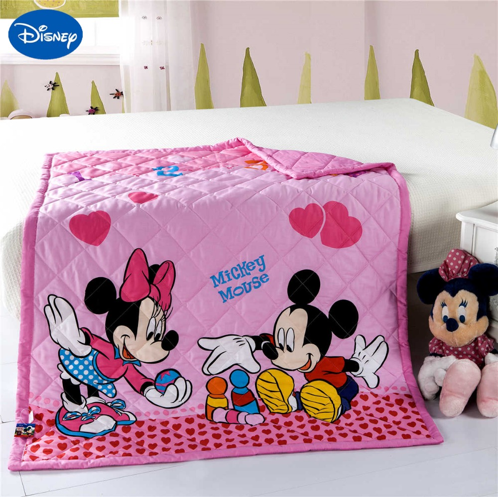 pink mickey minnie mouse quilts comforters disney bedding cotton rh aliexpress com