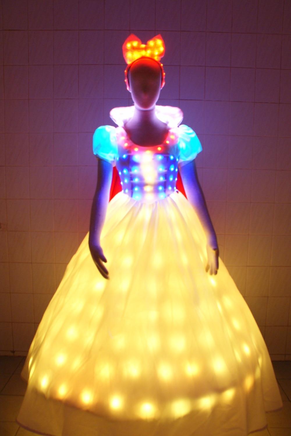 LED Bühne fluoreszierende Kostüme Anzug leuchtende Kleid zeigen - Partyartikel und Dekoration - Foto 2