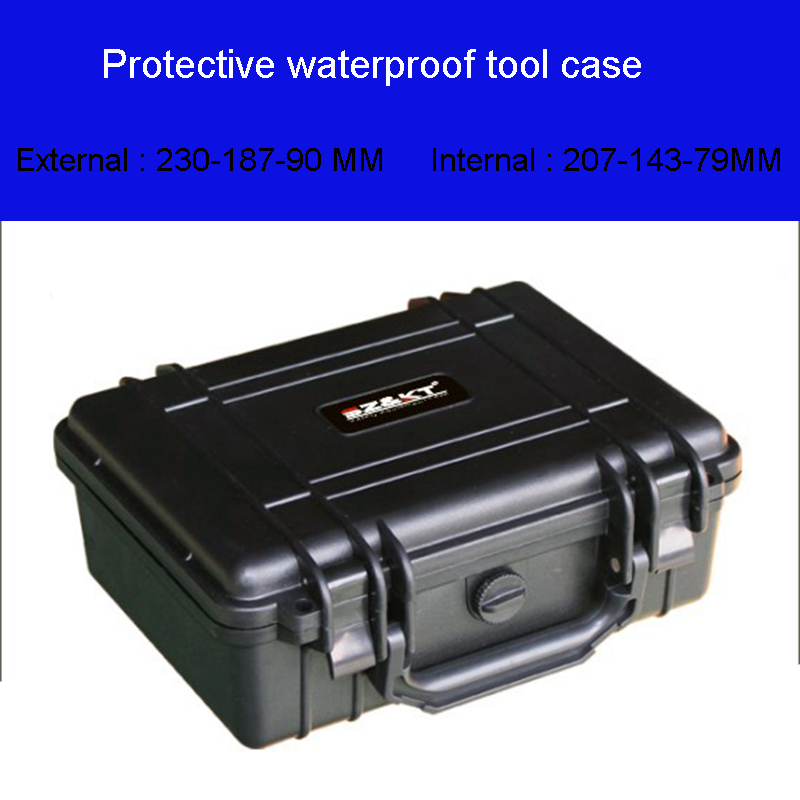 kiváló minőségű szerszám tok vízálló biztonsági felszerelés tok 207-143-79MM kamera doboz dobozban háziállatra vágott foma béléssel ingyenes szállítás